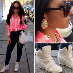 Olivia's OOTD: shirt & shoes from Forever21, pants from Ruby and Jenna, earrings from ArdenB, bag & watch from Michael Kors, sunglasses from Chanel. #Jerseylicious