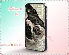 iPhone 4 Case iPhone 4S case iPhone 5 Case Hard Plastic or Silicon Rubber iPhone Cover for iPhone - Boston Terrier on Etsy, $4.99