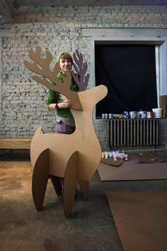 сани из картона декорации - Поиск в Google