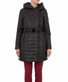 Vila Uma Padded Black Coat