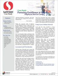 Within the corporate walls of Safeway, at the Employee Service Center (ESC), a team of executives and employees have undergone a transformation. The ESC was the first group within Safeway to participate in a process improvement pilot using Lean Six Sigma to evaluate the company's HR, payroll and accounting processes. The results?