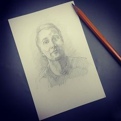 Здравствуй дорогой друг!  #drawing #illustration #portrait #sketch #pencil #sketchbook #art #artwork #painting #eskiz #портрет #рисунок #карандаш #набросок #эскиз @kamikadzedead