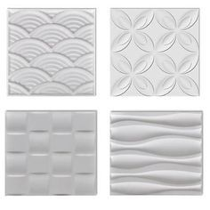 New-3D-Wall-Panels-6-m-Wave-Square-Bow-Flower-Bedroom-Hallway-Hotel-Decor. http://www.affordablehomeinnovations.com/