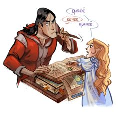 Accidental meetings in Valinor Little Galadriel helps ex-prisoner Melkor with Quenya (she feels pity for some weird guy who can't talk elvish) <--Oh my gosh xD