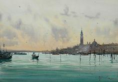 The lagoon in Venice - Joseph Zbukvic