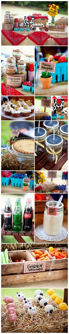 Farm Party. Mason jars. 2nd birthday party. Barn Parry.