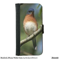 Bluebird, iPhone Wallet Case. iPhone 6 Wallet Case