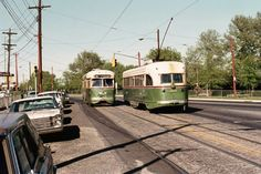 SEPTA  PCC  trolleys  on Rt.36 Phila  1970s