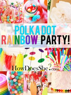 Rainbow Polka-dot Party - real party