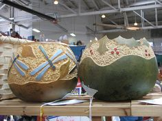 Carved & Painted gourds by BloomKitty, via Flickr