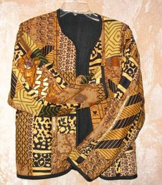 African fabric quilted jacket.