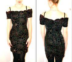 90's wine velvet dress $45