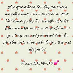 #Biblia #PalabraDeDios Juan 13:34-35