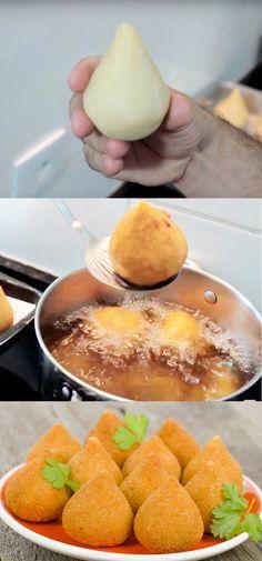 COXINHA DE FRANGO SUPER FÁCIL! #COXINHA #SUPERFÁCIL#comida #culinaria #gastromina #receita #receitas #receitafacil #chef #receitasfaceis #receitasrapidas