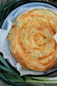 Kol Burek me Presh- Swirled Burek with Leek on http://momwhats4dinner.com/leek-burek/