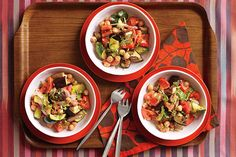 ... | Recipe for roasted vegetables, Ratatouille and Taco fillings