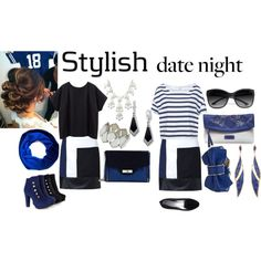 """""""Navy Night Out"""" by theasian79 on Polyvore"""