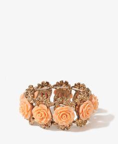 Carved Roses Bracelet | FOREVER21 - 1000049399