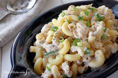 Tasty tuna macaroni salad recipe in 4 simple steps #easy #macsalad