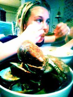 Yum ...mussel chowder