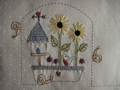 Block six of 'Le Jardin Quilt' by Bronwyn Hayes of Red Brolly Designs