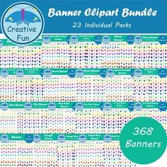 This bundle contains all my other banner sets. This means there are a total of 368 separate banners in this one bundle! All Included Banners are: Circle Banner
