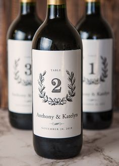 Wine table numbers give an extra personalized appeal to your wedding.