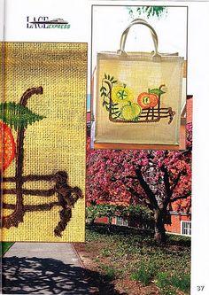 renda de bilros / bobbin lace Plantas + Arvores / Plants + Trees Needle Lace, Straw Bag, Burlap, Reusable Tote Bags, Crochet, Bobbin Lace, Drawings, Picasa, Journals