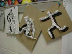 Foil Figures - Create figure sculptures using bunched up aluminum foil. HAS DIRECTIONS TO CUT PUT