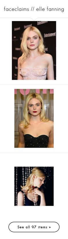 """faceclaims // elle fanning"" by a-eterno ❤ liked on Polyvore featuring doll parts, dolls, heads, doll heads, body parts, elle fanning, girls, models, pictures and people"