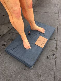 """""""Naked Donald Trump plop art sculpture in the Castro #SF"""""""
