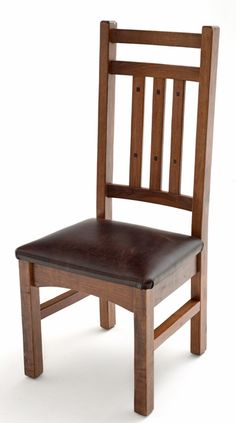 Handcrafted from sustainable solid hardwood into a unique rustic dining chairs for craftsman, arts & crafts, prairie, mission, bungalow & refined mountain decors