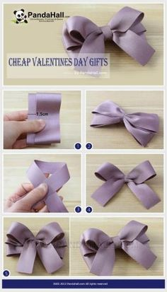 In the following paragraph, you will see an extremely economic and cheap valentines day gifts idea; by using a pair of scissors and three strands of wide Stain Ribbon, you can handle this how to make hair bows plan rapidly. by frances