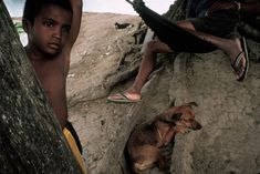 Alex Webb PANAMA. Pinogana. 2004. Along the river.