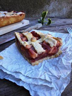 Kuchen de manzana y fresas