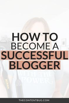 How to Become a Successful Blogger // The Content Bug -- #bloggingsecrets #bloggrowthhacks Make Money Blogging, How To Make Money, How To Become, Becoming A Blogger, Gain Followers, Real Quick, Online Entrepreneur, Blogging For Beginners, Blog Tips