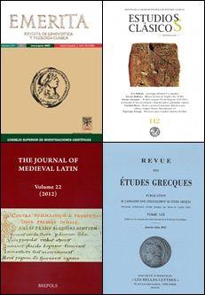 Filoloxía clásica http://kmelot.biblioteca.udc.es/search~S1*gag?/dFilolog{226}ia+antigua+--+Publicaciones+peri{226}odicas++/dfilologia+antigua+publicaciones+periodicas/1%2C2%2C46%2CB/exact&FF=dfilologia+antigua+publicaciones+periodicas&1%2C45%2C