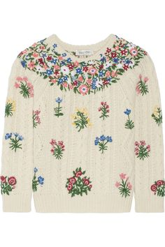 Valentino | Embroidered wool and alpaca-blend sweater | NET-A-PORTER.COM