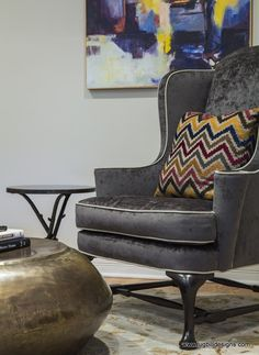 ... Shocking Reupholstering A Wingback Chair Decorating Ideas Images in Living Room Contemporary design ideas