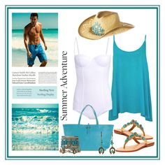 """""""Turquoise Summer"""" by terry-tlc ❤ liked on Polyvore featuring WearAll, Dolce&Gabbana, Mystique, Salvatore Ferragamo, H&M, Tiffany & Co. and Samantha Wills"""