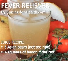 Fever Reliever — Juicing For Health. One pear provides a quarter of your daily fiber requirement. Like apple, it contains high amount of pectin (a water-soluble fiber) that helps to effectively lower cholesterol. Whenever possible, choose the Chinese/Asian pear variety as they have the highest medicinal properties.