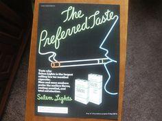 """Vintage 1979 Salem Lights Cigarettes Magazine Ad Print """"The Preferred Taste"""""""