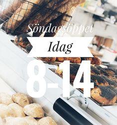 Glöm inte att vi har Söndagsöppet! 814. Välkomna. #sockermajas #söndag