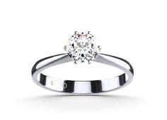 Our Flora – A classical platinum engagement ring! #Yorxs #Verlobungsring #Platinring #Solitärring