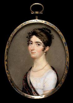 Miniature Portrait Of Miss Mary Tadman by John Smart - c. 1809  -  The Fitzwilliam Museum