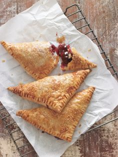 Flaky Cherry Turnovers — what a great way to take advantage of the cherries in season! All you need is puff pastry!