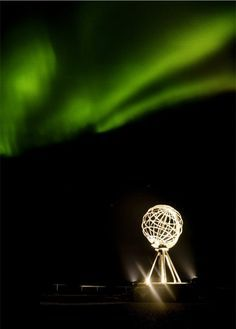 Nordkapp, Norway - the northern most point in Europe. We were lucky enough to experience the northern light phenomenon