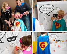 Super Hero Party Activity - Pin the patch on the super hero