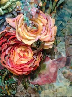 Mosaic flowers by Pavel Martushev, via Behance | Mosaics ...