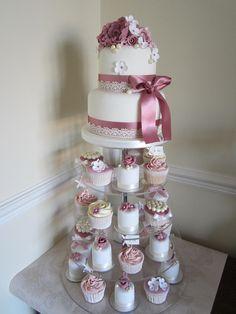 Vintage Wedding Tower by Janes Cakes